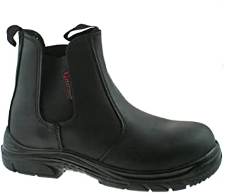 Grafters GRINDER Unisex Mens Womens Ladies Chelsea Dealer Safety Boots Brown